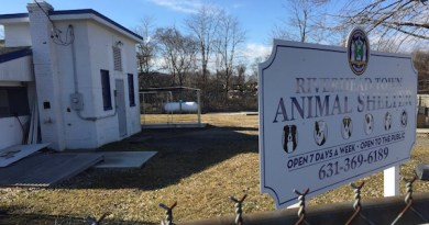 The former site of the Riverhead Town animal shelter, which moved to Aquebogue last year.