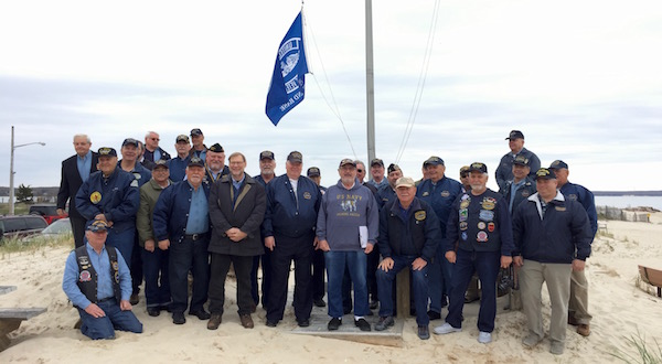 Submariners from the U.S. Submarine Veterans L.I. Base gathered at New Suffolk Beach on Sunday, April 28 for a ceremony honoring their fallen comrades on the 119th Anniversary of the founding of the first U.S. submarine base in the country at New Suffolk on April 11, 1900.