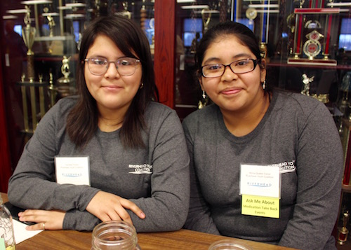 RYC members Daniella Flores and Mirna Queley Canal.