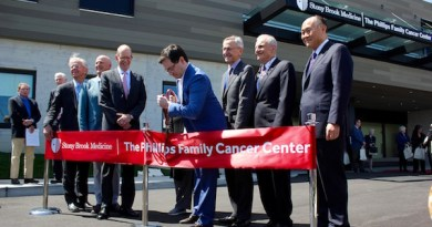 At the Ribbon Cutting for the Phillips Family Cancer Center.