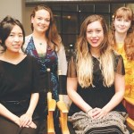 Left to right: 2018 Amy Award winners Wendy Chen, Kiley Bense, Carlie Hoffman, and Lindsay Adkins.