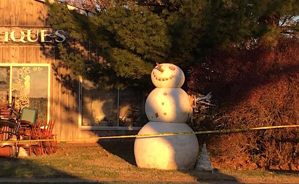 Autumn Snowman
