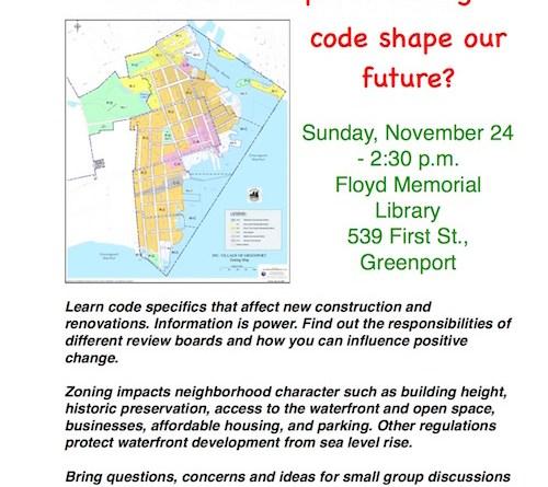 Greenport Zoning Forum 11-24-19