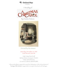 "Northeast Stage presents a Staged Reading of ""A Christmas Carol"" at Holy Trinity Church"