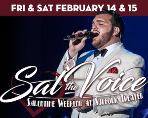 """Sal """"The Voice"""" Valentinetti performs at The Suffolk Theater"""