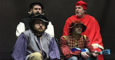 "Members of the cast of ""Wolf Hall,"" which opens Friday at the North Fork Community Theatre"