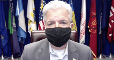 Suffolk County Executive Steve Bellone urged residents to wear face masks.