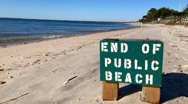 End of Public Beach