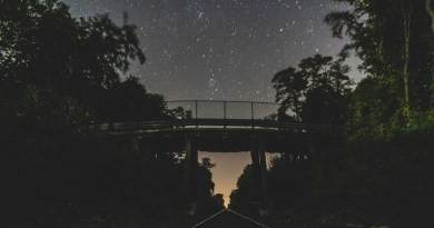 The dark sky above an East End railroad overpass. | Rob DeL Images photo