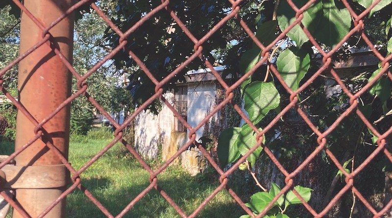 A shuttered former migrant camp on Edgar Avenue in Aquebogue.