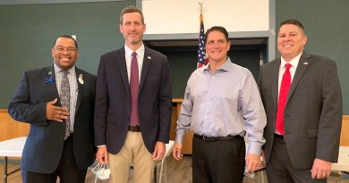 2021 Southold Town Board Candidates (l-r): Brian Mealy, Greg Doroski, Anthony Sannino and Greg Williams.