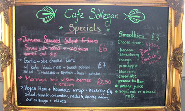 Special diet: a selection of the daily specials at Café SoVegan. Photograph: Jade King