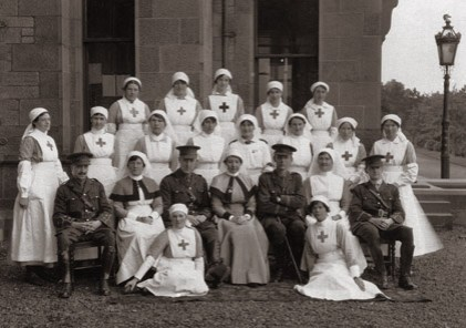 Staff at Craiglockhart War Hospital, (circa 1917). © The Poets Collection, Napier University