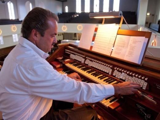 Martin Mans in Martinikerk Easterein op 19 juli