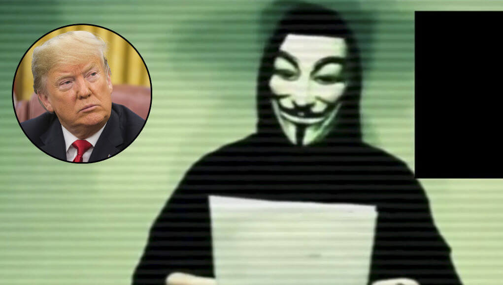 Anonymous threatens Donald Trump with revealing US crimes
