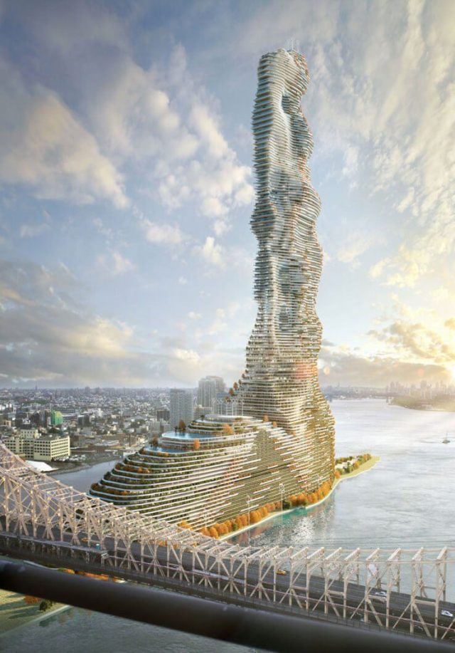 60 floor tall skysrapper green building in Croatia to control carbon emission
