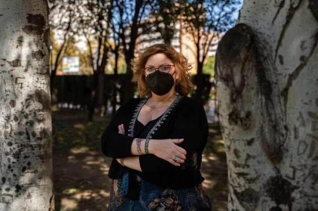 Lucía Ruiz survived the ETA bombing of the National Guard's cabin in Zaragoza when she was ten years old in 1987. Eleven people were killed in the attack. AP / Renata Brito