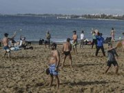 While half of Europe is freezing, Greeks are swimming on the beaches