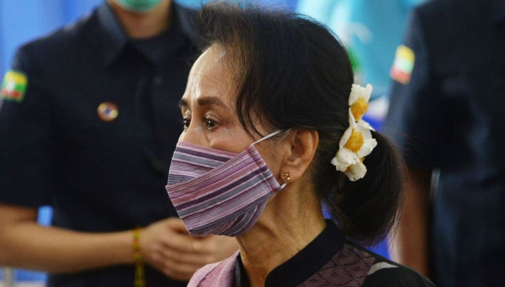 Military coup and aung san suu kyi arrested