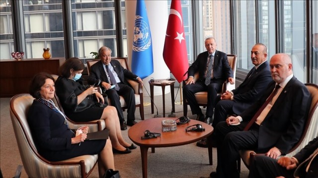 Erdogan and Guterres discuss developments in Afghanistan and the Cyprus issue