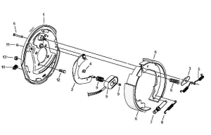 Electric Trailer Brake Parts Diagram