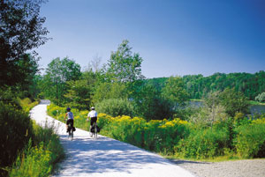 Eastern Townships of Quebec bike paths