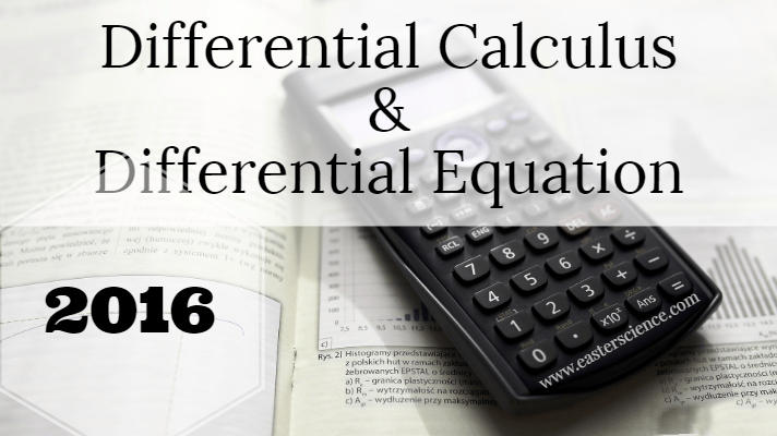 Differential Calculus and Differential Equation 2016