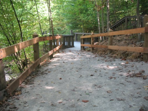 Trail to an overlook at McCormick's Creek State Park