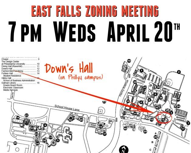 EastFallsLocal zoning meeting announcement