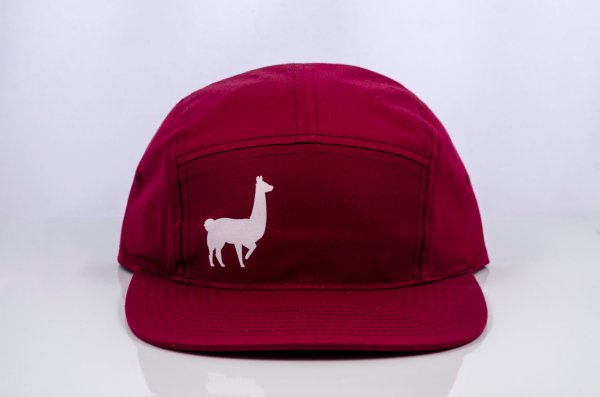 East Fork Cultivars Llama 5-Panel Hat in Berry