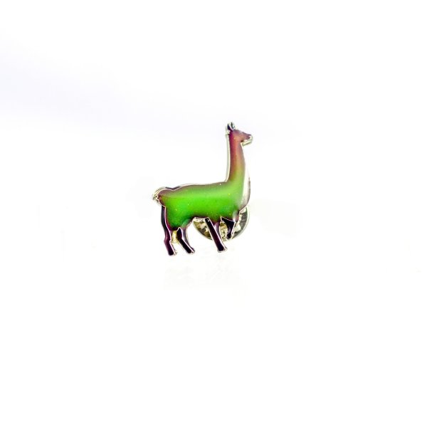 Color Changing Llama Enamel Pin