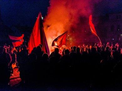 Östers IF firas på Stortorget 22/10 2012, Allsvenskt avancemang