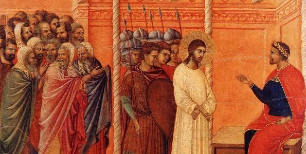 Christ Before Pilate, Duccio Buoninsegna