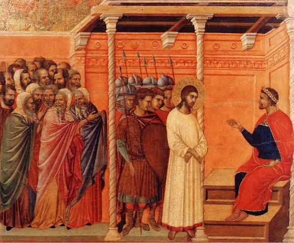 Christ Before Pilate, Duccio Buoninsegna