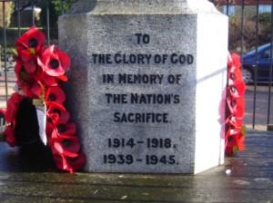 Fair Oak War Memorial Inscription
