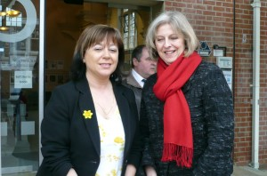Maria Hutchings welcomed Theresa May to Eastleigh Job Club