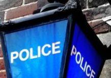 Blue Police Lamp