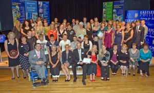 All staff and student winners of the evening picnik