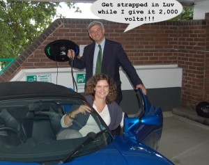 Chris Huhne Electric car