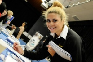 Tyler meets the employers at Eastleigh College