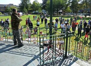 Matthew Myatt in park protest