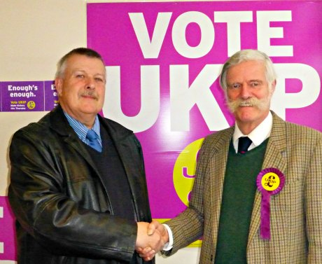 John Edwards welcomed by Cllr Hugh McGuiness