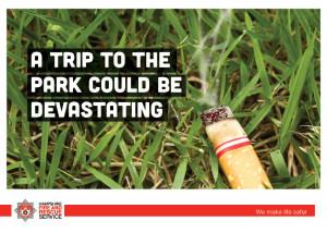 Cigarette ends are also a hazard.