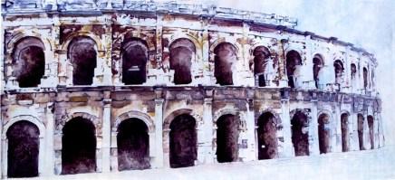 Les Arènes de Nîmes by Charlotte Carr