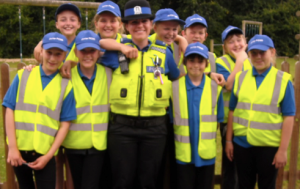 Junior PCSO's and PCSO Sam Izzard ready for action!