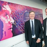 Sir Tim Hunt left with Jonathan Prest Barton Peveril Principal