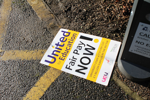 discarded placard
