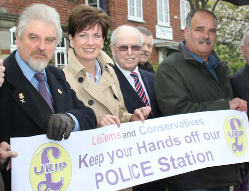 L-R Glynn Davies-Dear, Cllr Diane James,Michael Read,Cllr Andy Moore