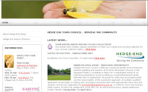 The HETC website as it stands on 19th April 2014