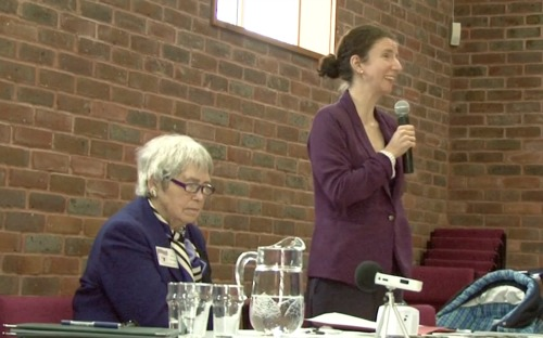 Labour's Anneliese Dodds speaking at Bursledon hustings